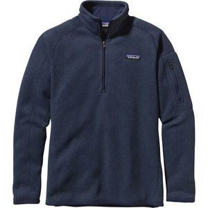 Patagonia Better Sweater 1/4 Zip Jacket Blue Small